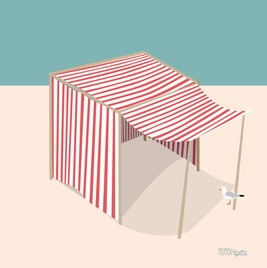 Illustration du produit Tente plage rouge